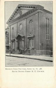 Brooklyn NY~South 2nd St United Methodist Episcopal Church~3 Sets of Doors 1905