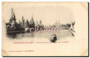 Old Postcard From Paris 1900 Exhibition Panorama Taken from Pont des Invalides