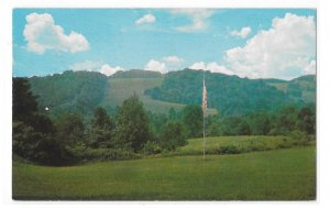 Garrett Williamson Lodge Newtown Square PA View from Porch Vntg Postcard