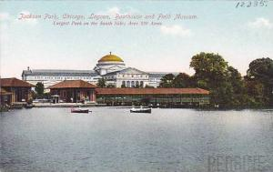 Jackson Park, Boathouse and Field Museum, Lagoon, Chicago, Illinois, 1900-1910s