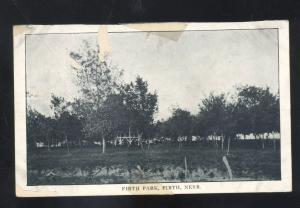 FIRTH NEBRASKA FIRTH PARK ANTIQUE VINTAGE POSTCARD B&W NEBR.