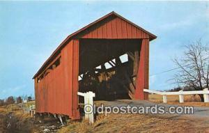 Covered Bridge Vintage Postcard Illinois Covered Bridge Sangamon County, IL, ...