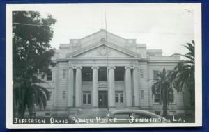 Jennings Louisiana la Jefferson Davis Parish House real photo postcard RPPC
