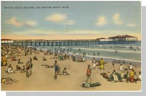 Old Orchard Beach, Maine/ME Postcard, Pier/Casino