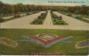 Denver, Colo., Flower Garden In City Park