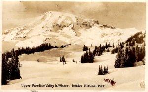 Washington - Upper Paradise Valley in Winter - Rainier National Park - in 1928