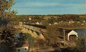 Hartland NB, New Brunswick, Canada - Covered Bridge on St John River