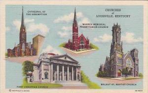 Kentucky Louisville Churches Of Louisville Multiple 1944