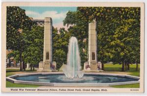 WW Veterans Memorial Pillars, Grand Rapids MI