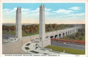 6589 PA Harrisburg  Entrance to Soldiers´ and Sailors´ Memorial Bridge