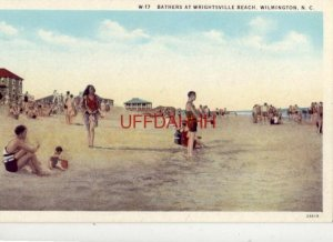 BATHERS AT WRIGHTSVILLE BEACH, WILMINGTON, N.C.