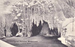 Typical Canadian Winterscene, An Ice Grotto, Canada, 1900-1910s