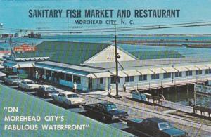 North Carolina Moorehead City Sanitary Fish Market & Restaurant 1972