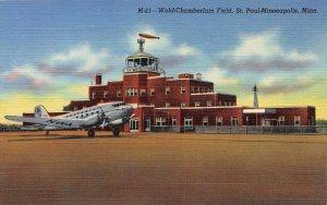 Wold-Chamberlain Field, St. Paul-Minneapolis, Minn., Early Postcard, Unused