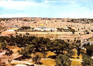 Israel Old Vintage Antique Post Card General view of Jerusalem From Mount Oli...