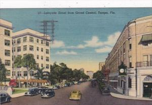 Florida Tampa Lafayette Street From Grand Central 1953 Curteich