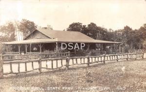 Iowa Ia Postcard Real Photo RPPC c1930s ALGONA Ambrose Call State Park Lodge