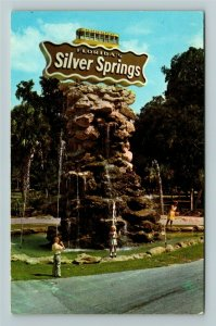 Silver Springs FL- Florida Rustic Fountain Mini Glass Bottom Boat ChromePostcard