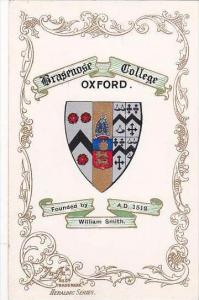 England Oxford Brasenose College Coat Of Arms