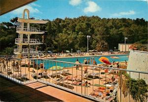 Estoril Sol Hotel Cascais Portugal swimming pool  pm high dive platform Postcard