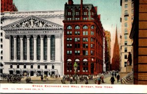 New York City Stock Exchange and Wall Street