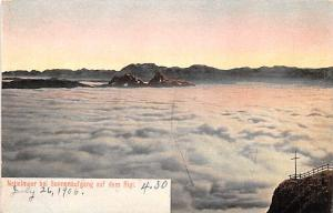 Switzerland Old Vintage Antique Post Card Nebelmeer bei Sonnenaufgang auf dem...