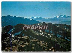 Postcard Modern Bortelhorn Monte Leone Simplonpass Fletschhorn Wostmies