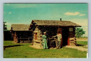 Minden NE- Nebraska Original Pony Express Station Pioneer Village ChromePostcard