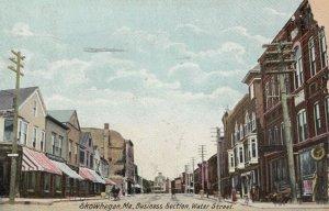 SKOWHEGAN , Maine , 1908 ; Business Section , Water Street