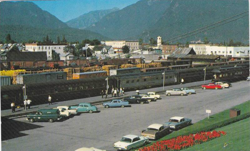 General View Of The Town Facing West With The Railway Station, Revelstoke, B....