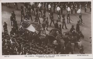 The Funeral Procession of King Edward VII, 1910 Real Photo Postcard, Unused