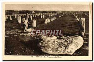 Old Postcard Dolmen Menhir Carnac Menec alignments
