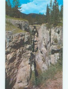 Unused Pre-1980 BRIDGE SCENE Jasper Park Alberta AB d3927