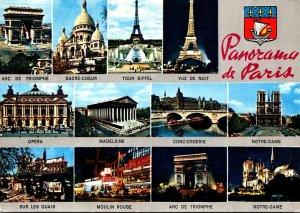France Panorama de Paris Multi View 1982