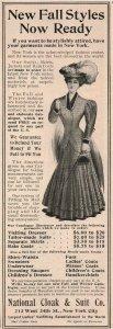 1907 Original Print Ad National Cloak & Suit Co. New York 2P1-6