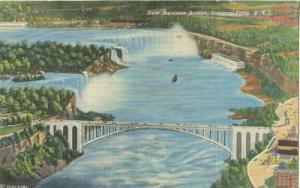 New Rainbow Bridge, Niagara Falls, New York unused linen ...