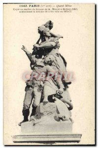 Old Postcard paris When I stopped Even marble copy of the group A has Mercia ...
