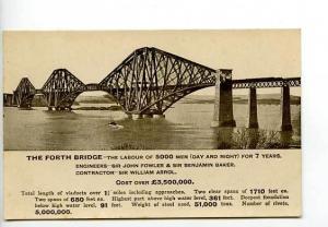 Scotland The Forth Bridge RPPC Postcard