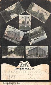 Uhrichsville Ohio scenic views and local landmarks antique pc Z41437