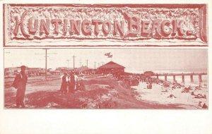 HUNTINGTON BEACH Orange County, CA Walt M. Reeves ca 1900s Vintage Postcard