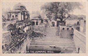 Jumping Well at Nizamuddin Delhi India Old Postcard
