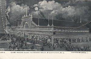ATLANTIC CITY , New Jersey , 1906 ; Boardwalk , Night Scene