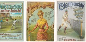 Lawn Tennis Championship Racquet Prosser & Sons Ball 3x Advertising Postcard s