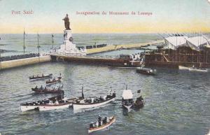 Port Said, Egypt - Inauguration du Monument de Lesseps - DB