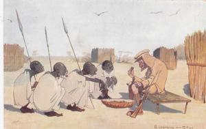Zulu men offer food to white man, A charming invitation , 00-10s