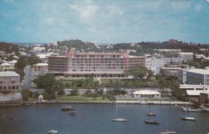 Bermudiana Hotel, Sail Boats, Hamilton Harbour, BERMUDA, 40-60's