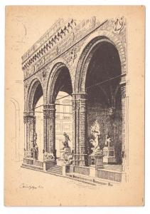 Italy Florence Lodge of the Orcagna Firenze 4X6 Postcard