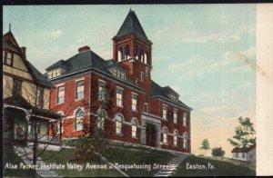 Pennsylvania EASTON Alsa Packer Institute Valley Avenue Nesquahoning Streets DB