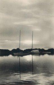 Postcard Hungary Lake Balaton picturesque sunset scenery sailing boats