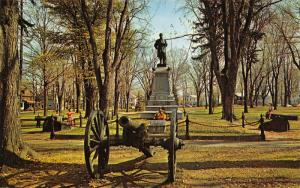 Corry Pennsylvania~City Park Civil War Soldiers Monument~Cannon~Houses~1960s PC